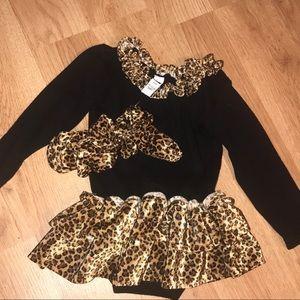 Baby Gap Girls leopard cat costume bodysuit dress